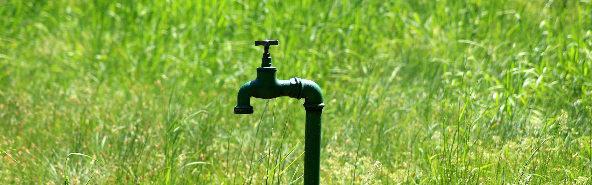 fugas de agua jardin